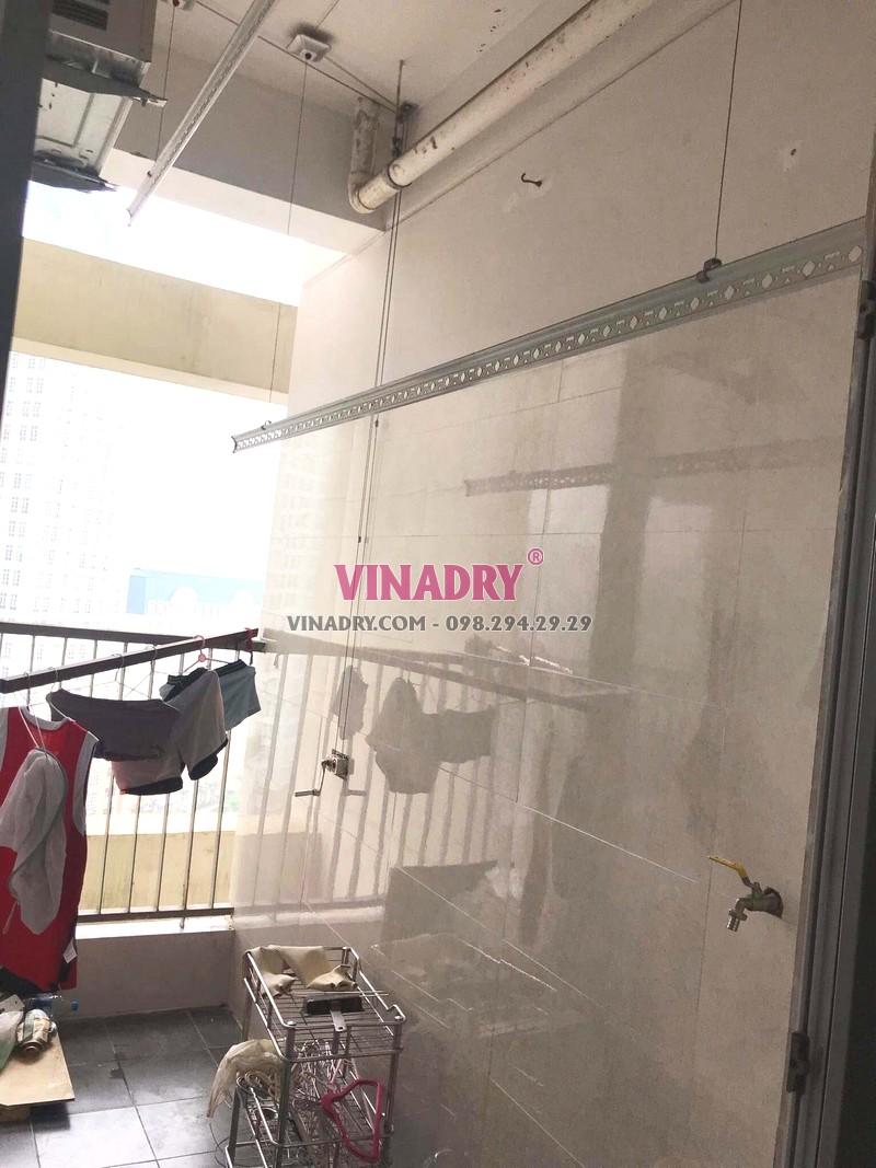 Sửa giàn phơi thông minh bị đứt dây cáp nhà chị Phúc, chung cư Golden place, Nam Từ Liêm, Hà Nội - 02