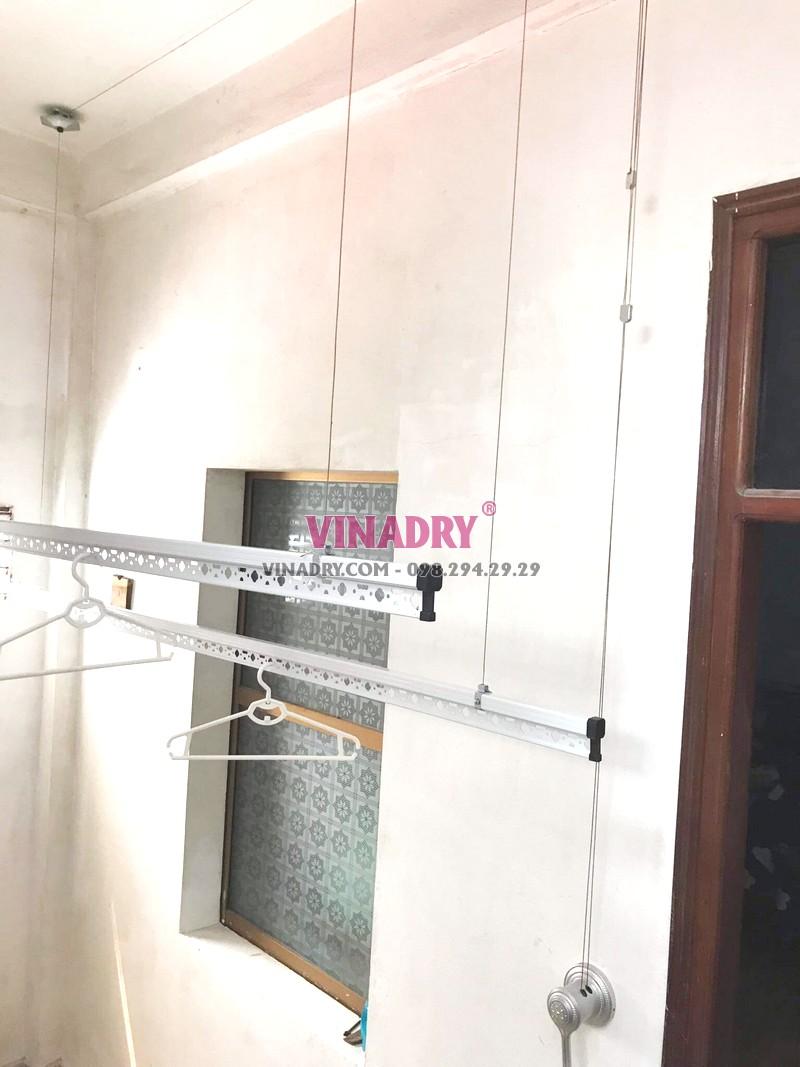 Lắp giàn phơi Hòa Phát KS950 tại 65 Lạc Trung, Hai Bà Trưng, Hà Nội nhà chị Hiên - 04