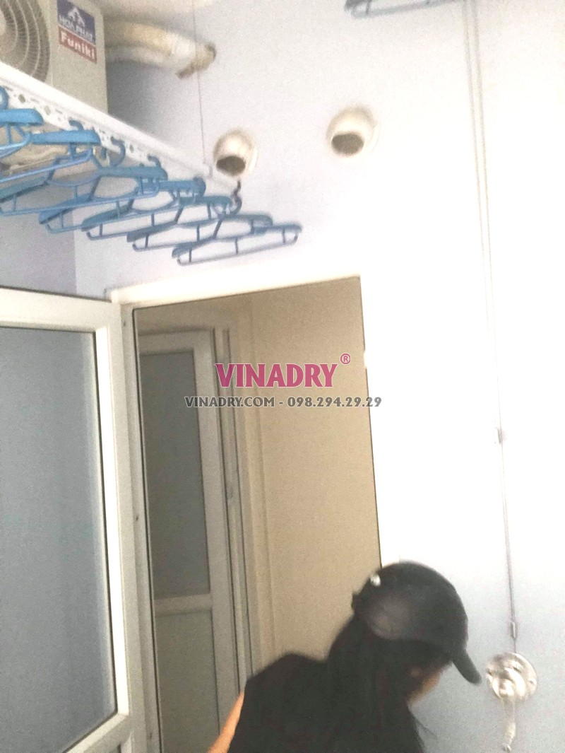 Lắp giàn phơi Hà Đông tại chung cư FLC Star Tower nhà chị Toàn - 03