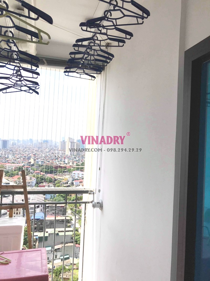 Thay dây giàn phơi thông minh giá rẻ tại chung cư 87 Lĩnh Nam, Hoàng Mai nhà anh Định - 01