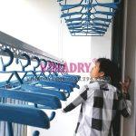 Lắp 2 bộ giàn phơi HP701 tại ban công và lô gia chung cư Green Star Phạm Văn Đồng