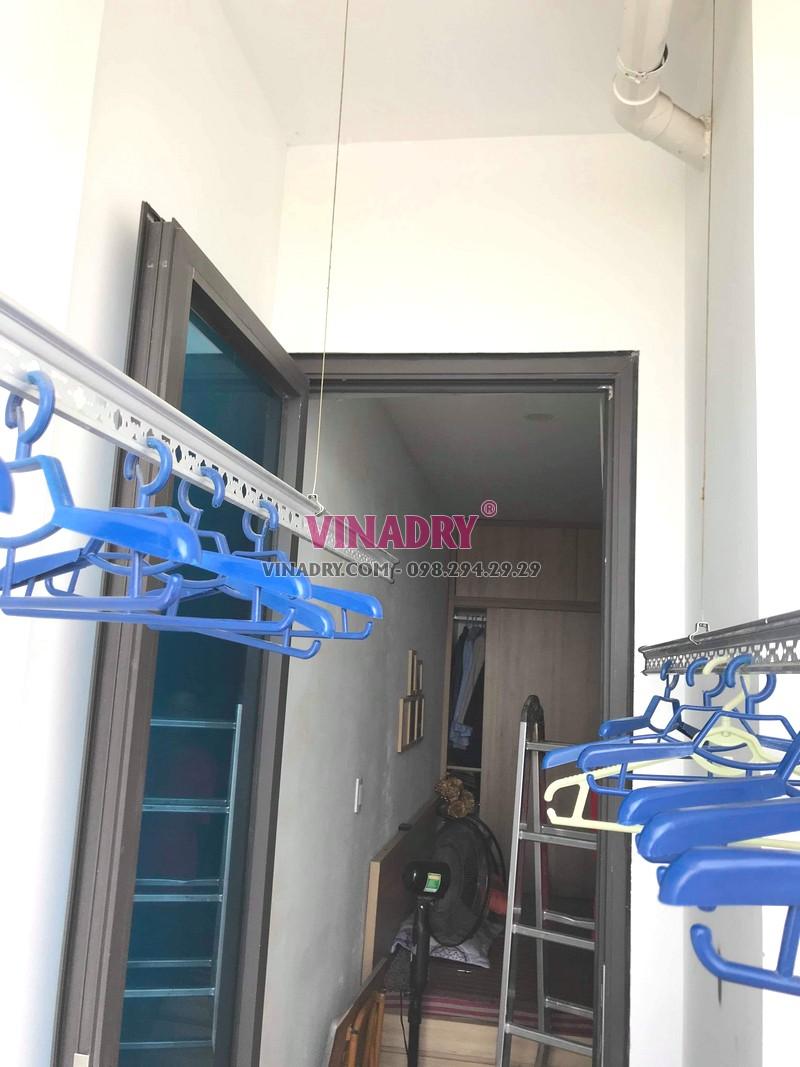 Thay dây giàn phơi thông minh giá rẻ tại chung cư 87 Lĩnh Nam, Hoàng Mai nhà anh Định - 04
