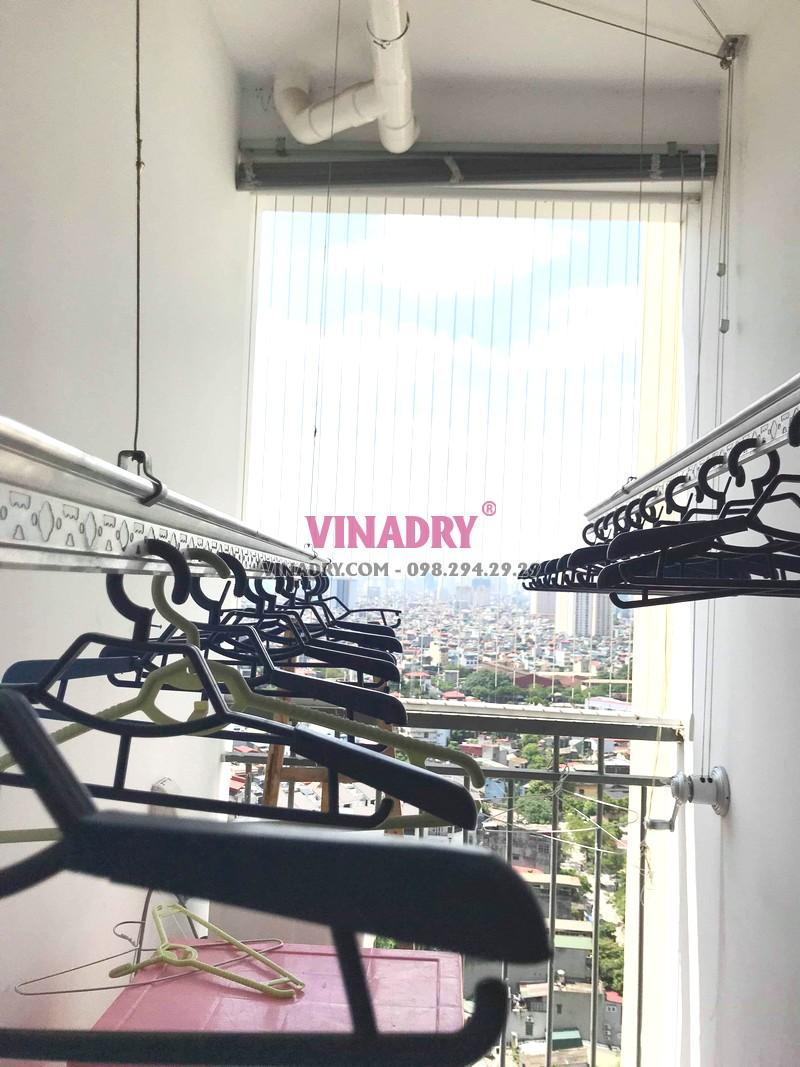 Thay dây giàn phơi thông minh giá rẻ tại chung cư 87 Lĩnh Nam, Hoàng Mai nhà anh Định - 05