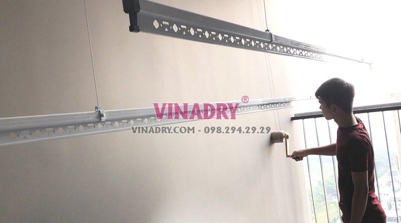 Lắp giàn phơi chống rối tại Thanh Xuân, chung cư Vinata Tower nhà chị Lanh - 01