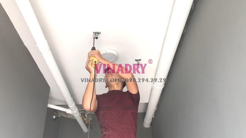Lắp giàn phơi chống rối tại Thanh Xuân, chung cư Vinata Tower nhà chị Lanh - 04