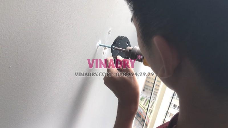 Lắp giàn phơi chống rối tại Thanh Xuân, chung cư Vinata Tower nhà chị Lanh - 05