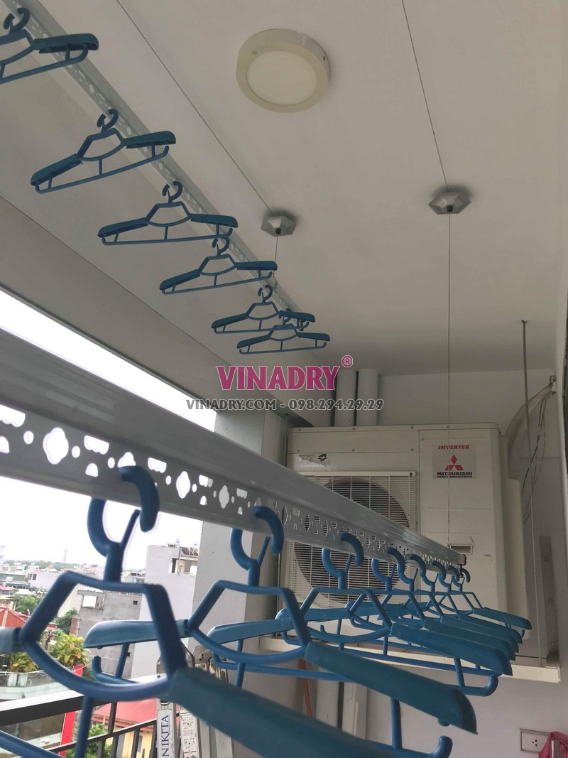 Lắp giàn phơi thông minh Long Biên tại chung cư N08 Giang Biên nhà anh Thiện - 02