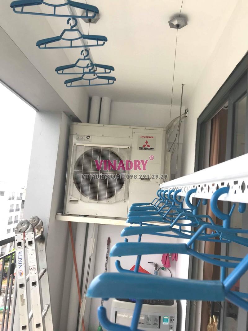 Lắp giàn phơi thông minh Long Biên tại chung cư N08 Giang Biên nhà anh Thiện bộ Hòa Phát Star ks950