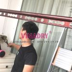 Lắp giàn phơi Cầu giấy ở chung cư 173 Xuân Thủy nhà chị Nhung