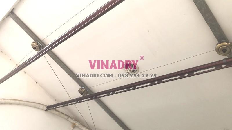 Lắp giàn phơi tại Cầu giấy nhà chị Nhung, bộ Vinadry GP972 - 08