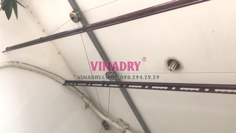 Lắp giàn phơi tại Cầu giấy nhà chị Nhung, bộ Vinadry GP972 - 09