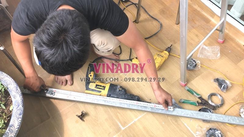 Lắp giàn phơi tại Cầu giấy nhà chị Nhung, bộ Vinadry GP972 - 01