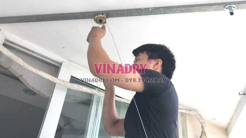 Lắp giàn phơi tại Cầu giấy nhà chị Nhung, bộ Vinadry GP972 - 04