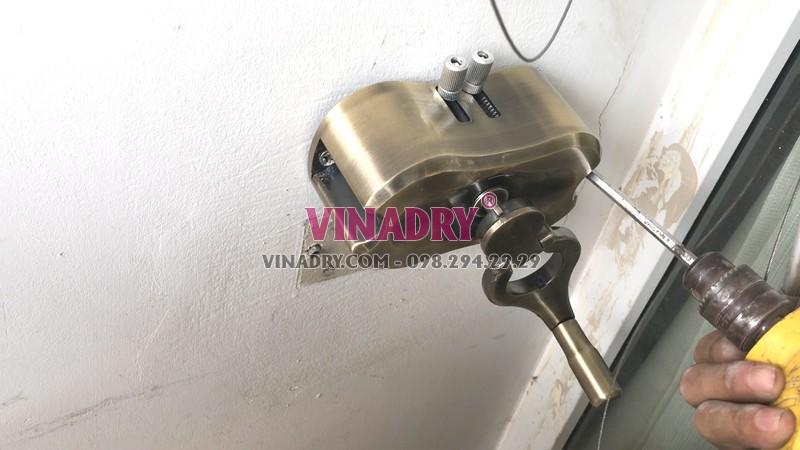 Lắp giàn phơi tại Cầu giấy nhà chị Nhung, bộ Vinadry GP972 - 05