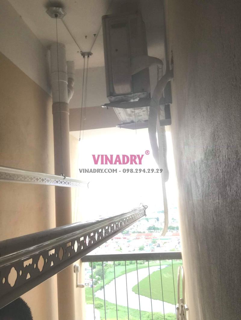 Sửa chữa giàn phơi thông minh tại Hoàng Mai nhà anh Kỹ, chung cư CT36B Định Công -04