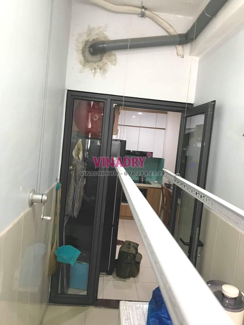 Sửa giàn phơi giá rẻ tại Bắc Từ Liêm nhà anh Vững, chung cư N01T3 Ngoại giao đoàn - 05