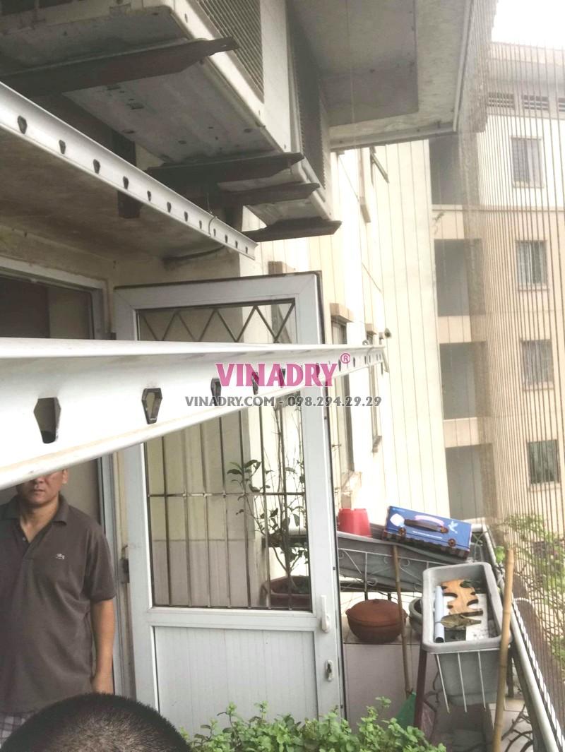 Sửa giàn phơi Long Biên tại chung cư K6, KĐT Việt Hưng nhà chị Thành - 04