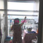 Sửa giàn phơi quần áo tại Hoàng Mai, nhà chị Nhật, chung cư ngõ 13 Lĩnh Nam