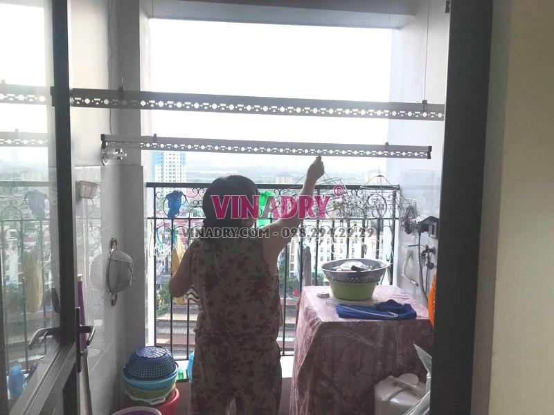 Sửa giàn phơi quần áo tại Hoàng Mai, nhà chị Nhật, chung cư ngõ 13 Lĩnh Nam - 06