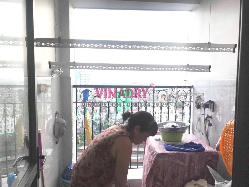 Sửa giàn phơi quần áo tại Hoàng Mai, nhà chị Nhật, chung cư ngõ 13 Lĩnh Nam - 07