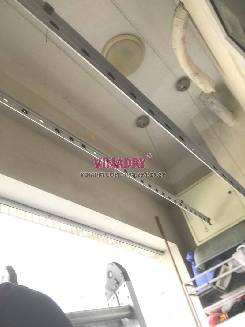 Thay dây cáp giàn phơi giá rẻ tại Hà Đông nhà anh Toán, tòa HH2E Dương Nội - 01