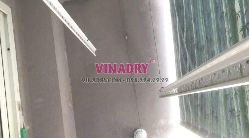 Thay bộ tời giàn phơi giá rẻ tại chung cư Z33 Ngọc Thụy, Long Biên nhà chị Minh - 02