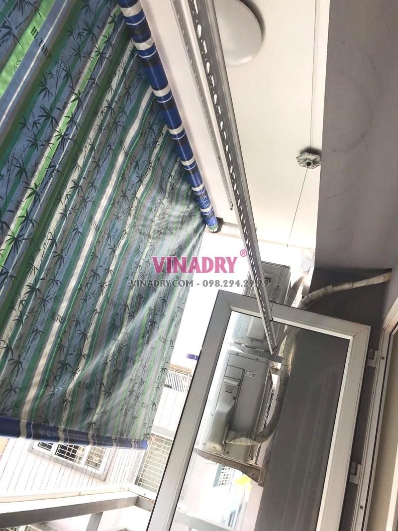 Thay bộ tời giàn phơi giá rẻ tại chung cư Z33 Ngọc Thụy, Long Biên nhà chị Minh - 05