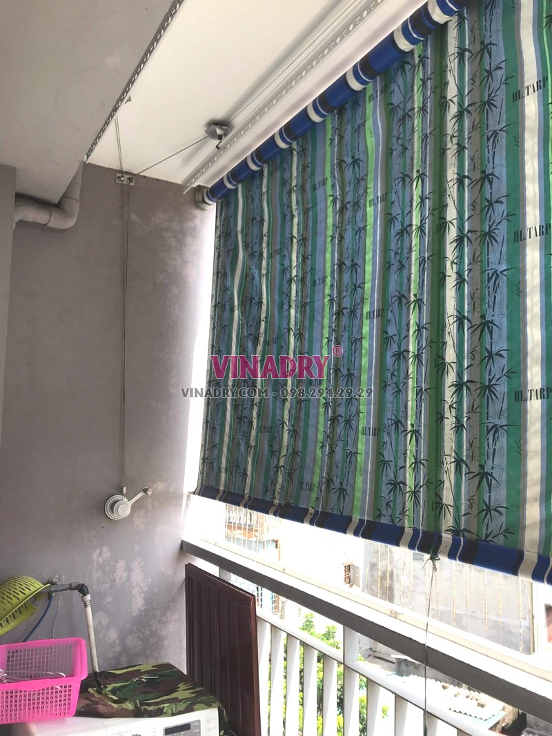 Thay bộ tời giàn phơi giá rẻ tại chung cư Z33 Ngọc Thụy, Long Biên nhà chị Minh - 06