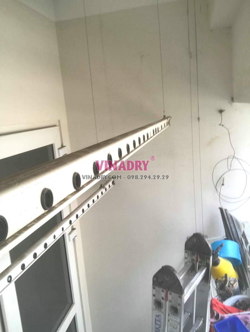 Thay dây cáp giàn phơi giá rẻ tại Hà Đông nhà anh Toán, tòa HH2E Dương Nội - 06