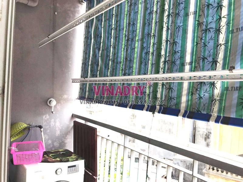 Thay bộ tời giàn phơi giá rẻ tại chung cư Z33 Ngọc Thụy, Long Biên nhà chị Minh - 07