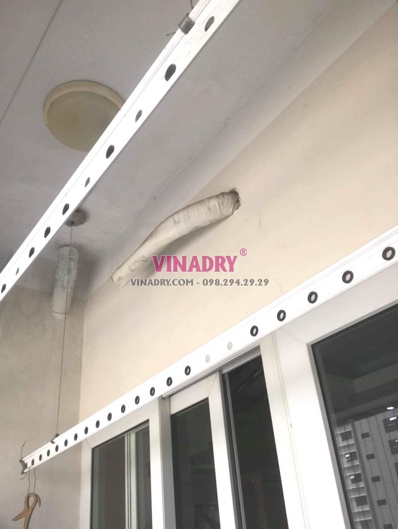 Thay dây cáp giàn phơi giá rẻ tại Hà Đông nhà anh Toán, tòa HH2E Dương Nội - 08