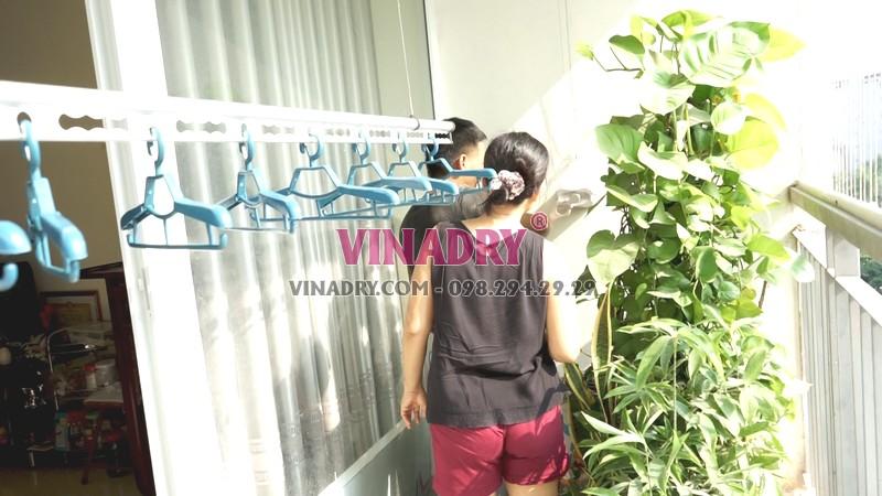 Lắp giàn phơi thông minh tại chung cư viện 103, Thanh Trì, Hà Nội nhà chị Vui - 06