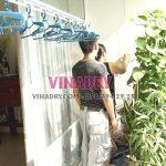 Lắp giàn phơi thông minh tại chung cư viện 103, Thanh Trì, Hà Nội nhà chị Vui