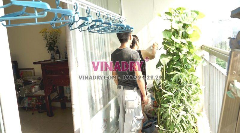 Lắp giàn phơi thông minh tại chung cư viện 103, Thanh Trì, Hà Nội nhà chị Vui - 07