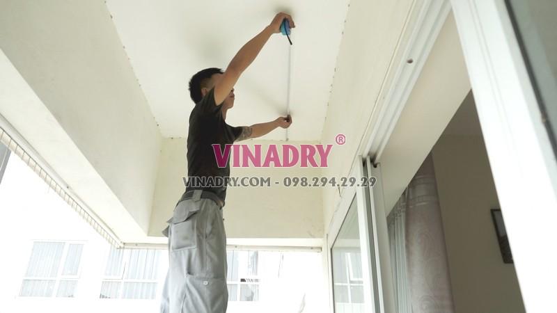 Lắp giàn phơi thông minh tại chung cư viện 103, Thanh Trì, Hà Nội nhà chị Vui - 01