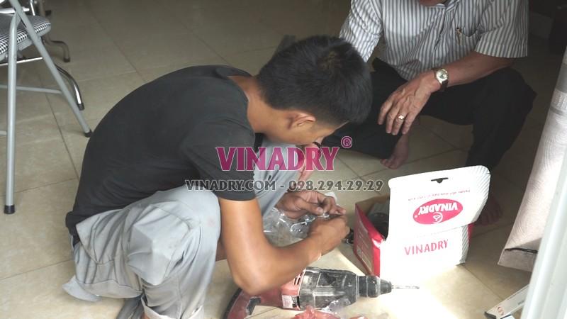 Các linh kiện giàn phơi Vinadry gp971 được đóng hộp cực gọn gàng