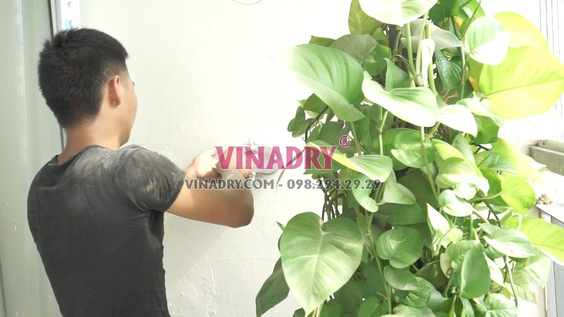 Lắp giàn phơi thông minh tại chung cư viện 103, Thanh Trì, Hà Nội nhà chị Vui - 04