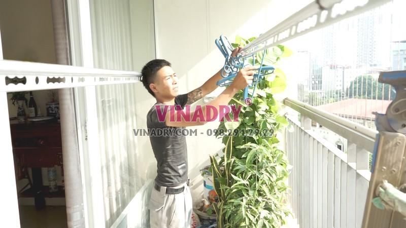 Lắp giàn phơi thông minh tại chung cư viện 103, Thanh Trì, Hà Nội nhà chị Vui - 05