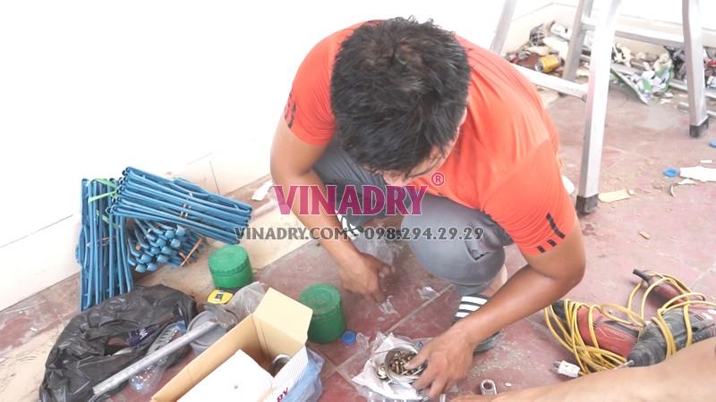 Những linh kiện chính hãng của giàn phơi Vinadry GP902 được đóng hộp cẩn thận