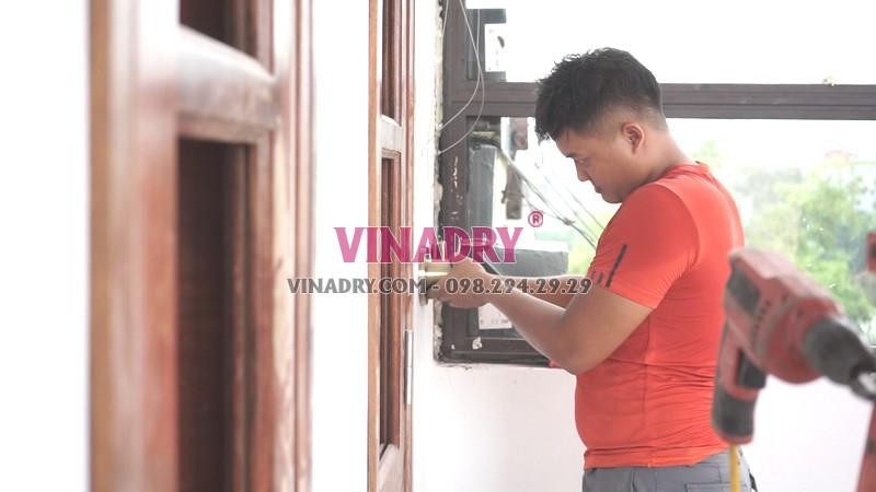Quy trình lắp giàn phơi Thanh Xuân tại nhà chú Thu - 04