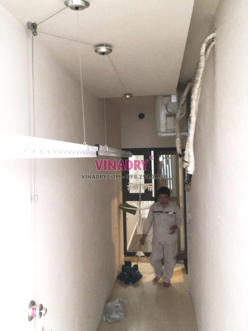 Lắp giàn phơi tại chung cư HPC Landmark 105, Hà Đông nhà chị Lệ - 07