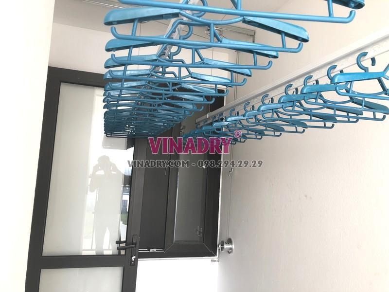 Lắp giàn phơi Hòa Phát tại Long Biên, tòa B1 chung cư CT3 Ruby City nhà anh Ba - 02