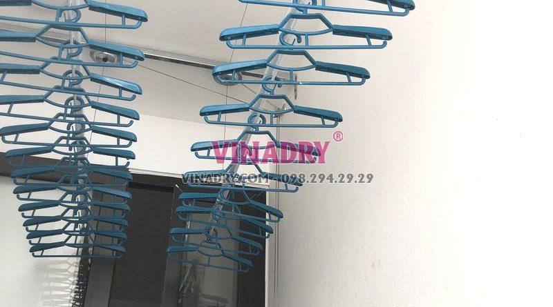 Lắp giàn phơi Hòa Phát tại Long Biên, tòa B1 chung cư CT3 Ruby City nhà anh Ba - 03