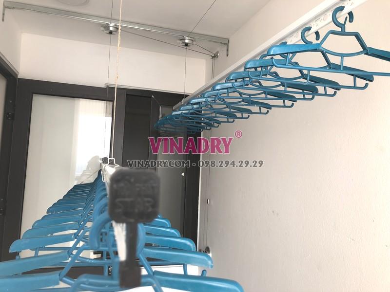 Lắp giàn phơi Hòa Phát tại Long Biên, tòa B1 chung cư CT3 Ruby City nhà anh Ba - 07
