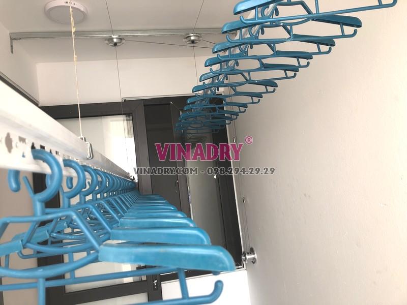 Lắp giàn phơi Hòa Phát tại Long Biên, tòa B1 chung cư CT3 Ruby City nhà anh Ba - 08