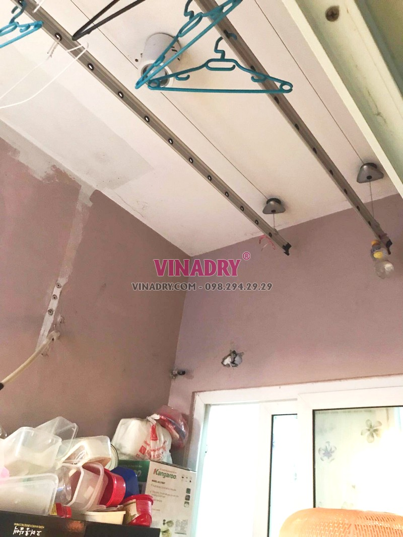 Sửa giàn phơi tại KĐT Việt Hưng, Long Biên nhà bác Cẩm chung cư GH4 Green House - 01