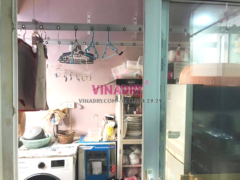 Sửa giàn phơi tại KĐT Việt Hưng, Long Biên nhà bác Cẩm chung cư GH4 Green House - 06