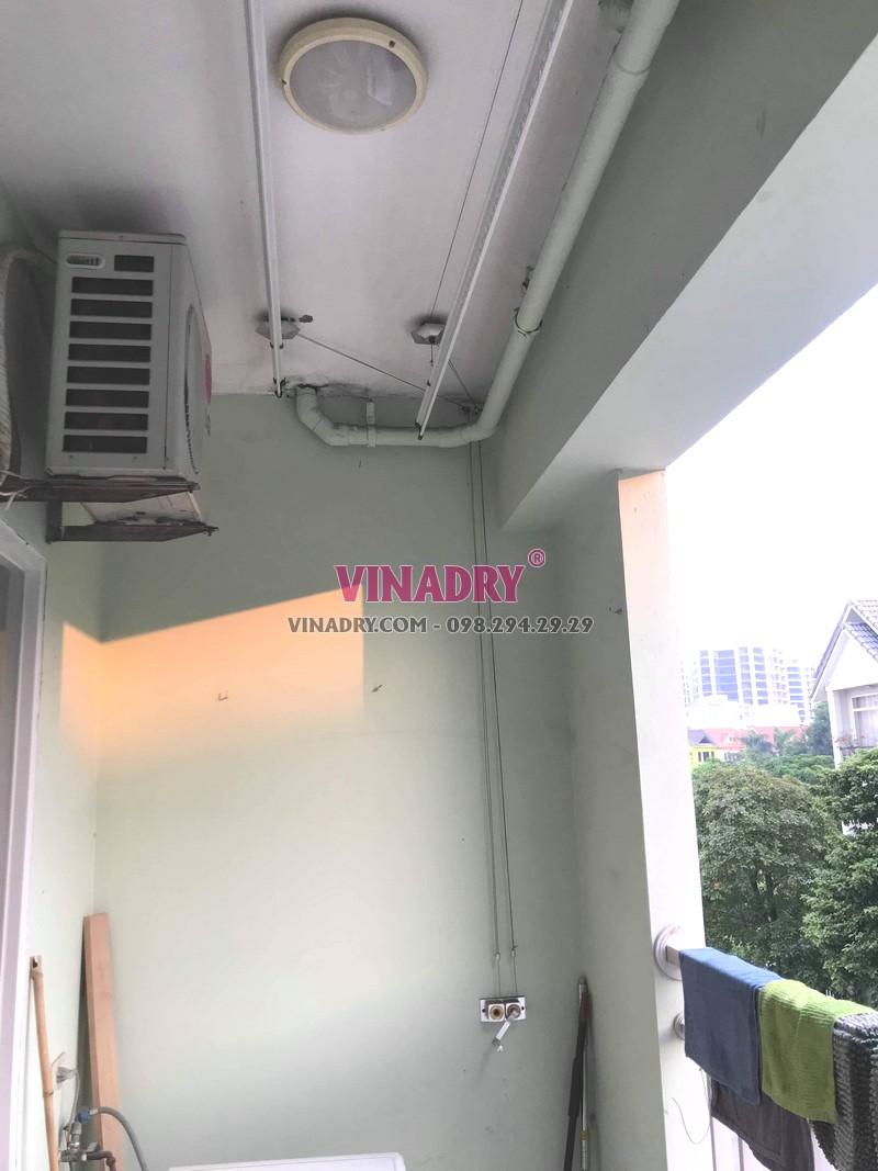 Sửa giàn phơi tại KĐT Việt Hưng, Long Biên: thay thanh phơi nhà anh Vỹ, tòa K6 - 07
