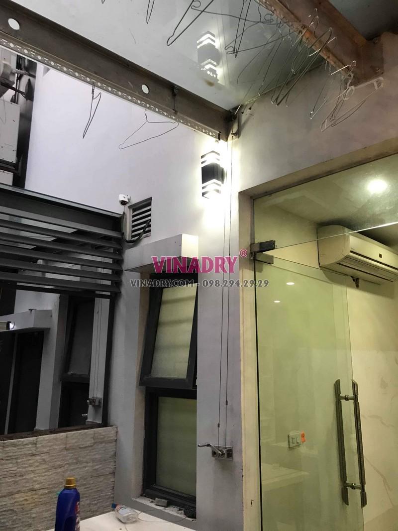 Sửa giàn phơi thông minh tại KĐT Gamuda, Hoàng Mai, Hà Nội nhà anh Minh - 01