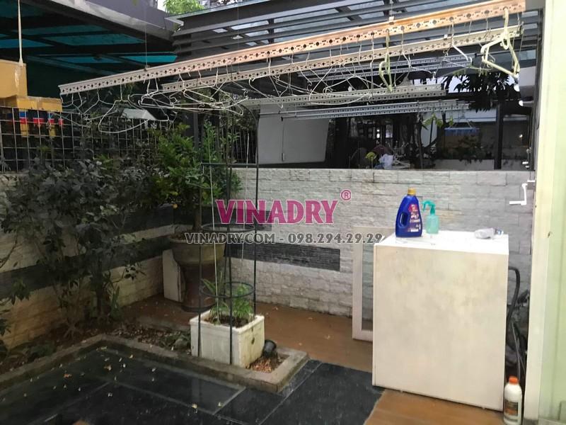 Sửa giàn phơi thông minh tại KĐT Gamuda, Hoàng Mai, Hà Nội nhà anh Minh - 02